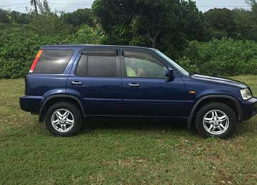 Blue Honda CRV SUV Rental